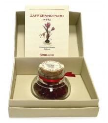Pure saffron in threads - glass jar 1gr (package version)